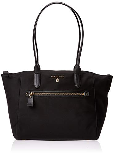 MICHAEL Michael Kors Nylon Kelsey Medium Top Zip Tote Black One Size