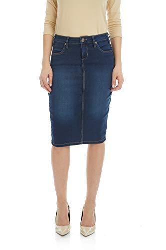 Blue 2 Denim Skirt - Esteez Jean Skirt for Women Powerstretch Denim Miami Blue 2