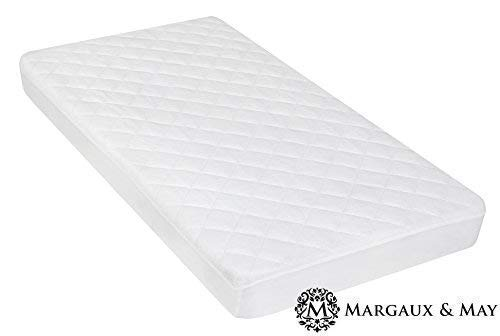 High Absorbency and Stain Protection Baby Cover Made with Bamboo Fiber for Superior Comfort Viscose from Bamboo Crib Mattress Protector Pad Prevents Bacteria Dust Mites and Mold From Breed Waterproof Fitted Quilted Mattress Protector Pad for Your Crib