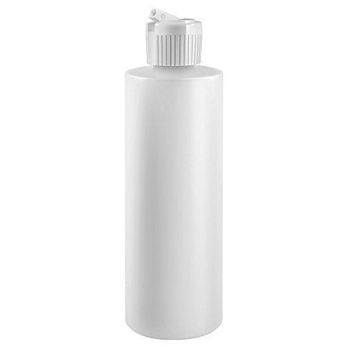 - 8 Oz Plastic Cylinder Bottles with Flip Top Pour Spout, Pack of 6
