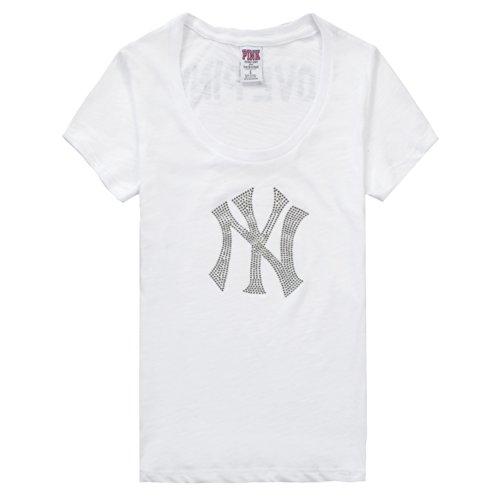 quality design afd41 5d772 Women's New York Yankees Pink Victoria's Secret Crew Neck ...