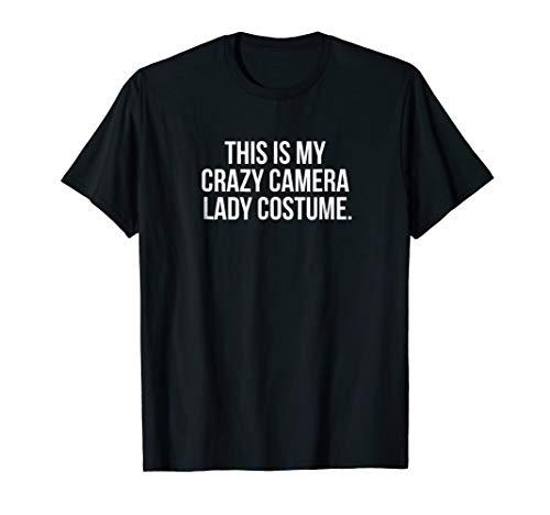 Crazy Camera Lady Costume funny halloween shirt