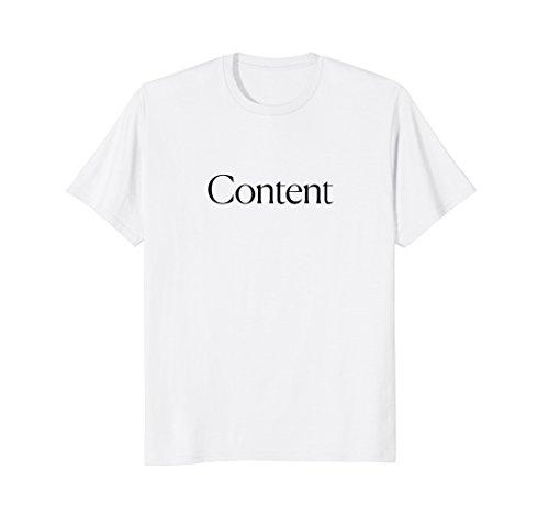Man Womens Cut T-shirt - The Cut - Content Tee
