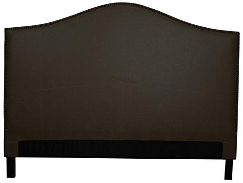 Chloe King Bonded Leather Headboard,Vintage Dark Brown,Fully Assembled