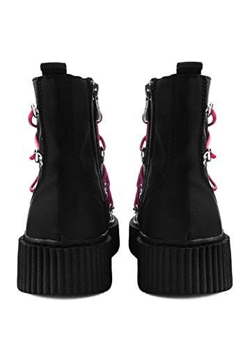 Noir Casbah Creeper Rouge Botte Hommes Femmes T Shoes Lacé k De u Sngxv1OP