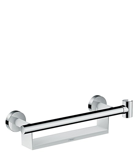 Hansgrohe Unica Comfort Grab Rail with Soap Dish Holder and Head White/Chrome