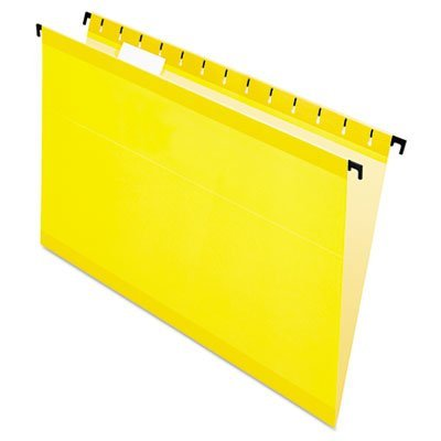 Pendaflex Surehook Reinforced Hanging File Folders, Legal Size, Yellow, 20 Per Box (6153 1/5 YEL)