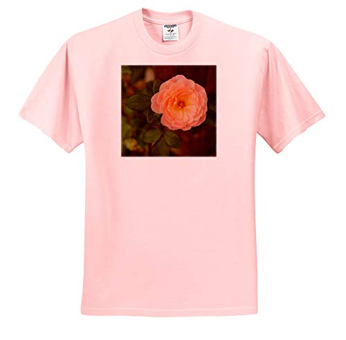 Garden Shirt Romantic (Stamp City - Flowers - Photograph of a Peach Colored Rose Blooming in a Garden. - T-Shirts - Toddler Light-Pink-T-Shirt (4T) (ts_306502_49))