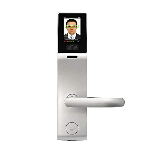 ZKTeco Biometric Digital Door Lock Face Recognition and Touch Screen Keyless Locks Smart Lockset with Knob Handle,Right Handed,Zinc Alloy
