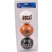 (NBA Milwaukee Bucks Kids Softee Basketballs (Set of 3), Size 3,)