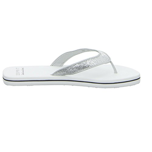 ESPRIT Womens Glitter Thongs Sandals Grey YmWopRMy