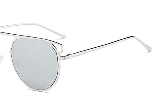 mujeres Gafas hombres marco del hombres los gafas los sol sol de las de de UV400 de para moda las Grey de viajar de de 8wTREqR5