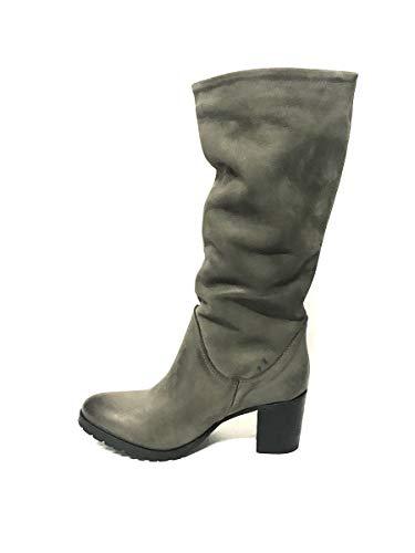 Invernali In Shoes Stivali Con Pelle Italy Grigio Zeta Made Tacco Vera qO4gFcRaw
