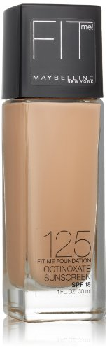 Maybelline New York Fit Me Dewy + Smooth Foundation, 125 Nude Beige, 1 fl. oz(Packaging May Vary)