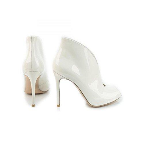 GIANVITO ROSSI - Zapatos de vestir de charol para mujer Blanco Bianco No