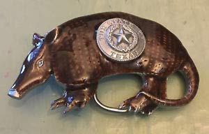 - Texas Seal ON Armadillo Belt Buckle New Approximately 3 1/4