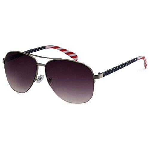 USA American Flag Classic Aviator Patriot Large Sunglasses (Silver, - Sunglasses Wholesale American Aviator Flag
