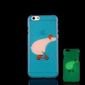 WQQ Funda Trasera - Gráficas/Innovador/Fosforescente - para iPhone 6 Plus Plástico )