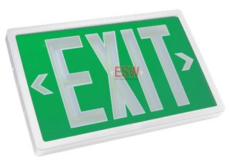 Tritium Exit Sign (Self Luminous Exit Sign No Electricity UL Listed - Code Compliant)