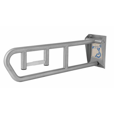 Bradley 8370-101000 Heavy Duty Stainless Steel Swing Up Grab Bar, 1-1/4'' OD x 29'' Length by Bradley