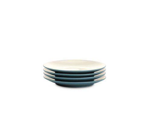 Safe Plates Microwave Noritake - Noritake 6-1/4-Inch Colorwave Plate, Mini, Turquoise Blue, Set of 4