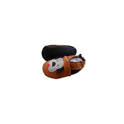 Ouaf Ouaf' de bbkdom- Zapatillas Bebé y niños en piel suave de calidad superior fabricación Europea de 0–