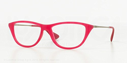 Ray Ban RX7042 5471 Fushia Pink Silver Frame 54 mm Optical Lens Eyeglasses - Frames Ban Glasses Eye Ray