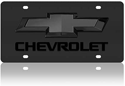 Eurosport Daytona Chevrolet Bowtie License Plate on Carbon Steel Compatible with