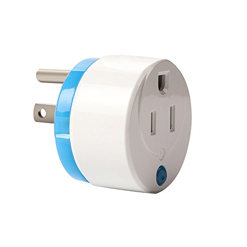 HAOZEE Z Wave Plus Mini Smart Power Plug Home Automation Zwave Outlet,Z Wave Range Extender,Energy Monitoring,Works with Wink,SmartThings & more