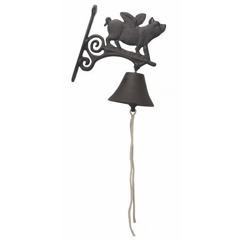 Cast Iron Flying Pig Bell by Upper Deck