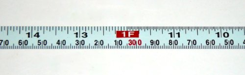 "Metal Adhesive Backed Ruler – 1/2 Inch Wide X 1.2 Meters (4 Feet) Long – Right to Left – Fractional/Metric – 1/16"" and 1mm Grads (4' Metric Ruler)"
