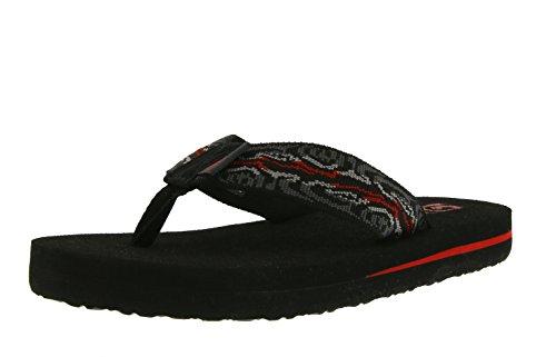 Teva Mush II Fashion Flip Flop Sandal , Wood Stripes/Black/Multi-T, 11 M US Little Kid