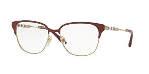 Burberry BE1313Q Eyeglass Frames 1238-53 - Bordeaux/light Gold BE1313Q-1238-53
