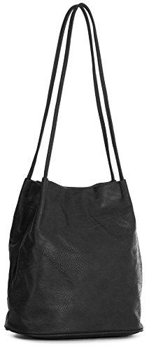 Bolso Shop para hombro mujer de sintética negro piel Big Handbag al PqWTxSF