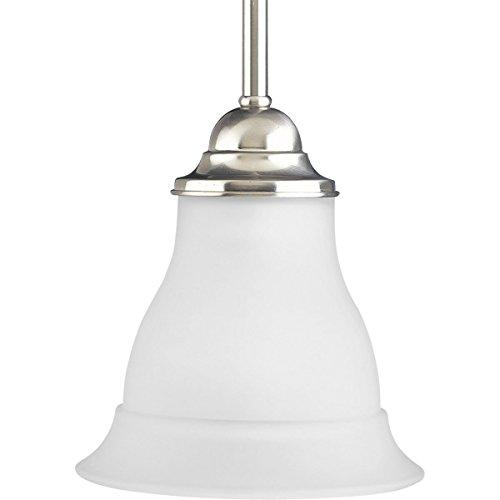 (Progress Lighting P5096-09 1-Light Mini-Pendant, Brushed Nickel)