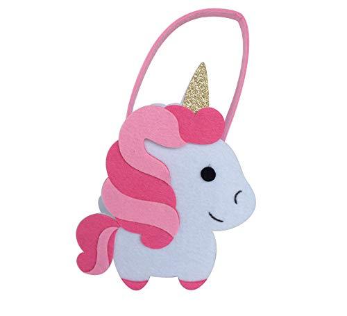 Twiitz Happy Unicorn Bright Pink Bucket Felt Basket