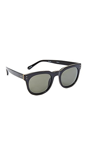 Linda Farrow Luxe Women's Classic Stud Sunglasses, Black/Grey, One - Linda Farrow
