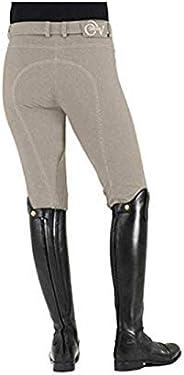 Ovation Women's Euro Melange Zip Front Knee Patch Cotton Bree