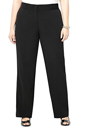 Avenue Women's Classic No Gap Pant, 14 Black