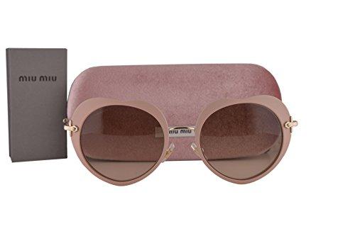 Miu Miu MU54RS Sunglasses Matte Pink w/Light Brown Gradient Light Gray Lens U6I3D0 SMU 54R (Sunglasses Miu Miu Gray)