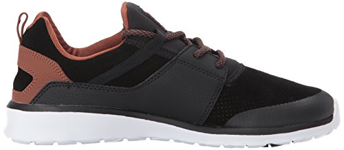 Dc Mens Heathrow Prestige Scarpa Da Skate Casual Unisex Nero / Marrone / Bianco