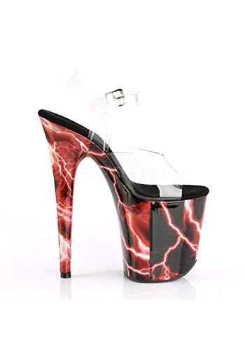 Womens Clr C Red Hologram Sandals PNHG Pleaser 808STORM FLAMINGO UqYdUw4