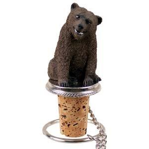 Conversation Concepts Grizzly Bear Bottle Stopper