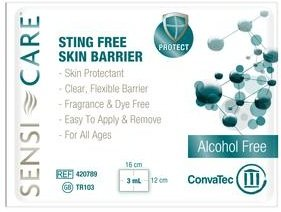 Sensi-Care™ Sting-Free Protective Skin Barrier Wipes, Fragrance- and Dye-Free - One Box of 30 wipes