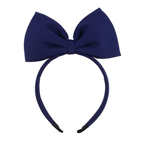HoveBeaty Hair Band Bow Headbands Headdress for Women and Girls, Perfect Hair Accessories for Party and Cosplay (navy)