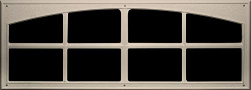 Coach House Accents Signature Décor Simulated Garage Door Window (2 Windows per kit) - Sandstone - Model AP144199
