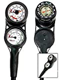 Mini Pressure, Depth, Compass Ultra Compact Console Italy for Scuba Diving Dive Diver Divers Gauges