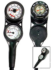 Mini Pressure, Depth, Compass Ultra Compact Console Italy for Scuba Diving Dive Diver Divers Gauges by House of Scuba