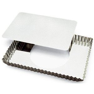 Gobel Rectangular Tart Mold 8'' x 11-1/4'' x 1'' Deep with Loose Removable Bottom