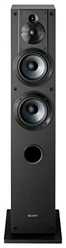 Sony SSCS3 3-Way Floor-Standing Speaker (Single) - Black